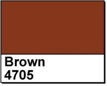 "Picture of 1"" Circle Thermal Transfer Labels, Brown 4705, 3"" Core"