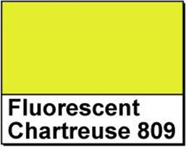 "Picture of 1"" Circle Thermal Transfer Labels, Fluorescent Chartreuse 809"