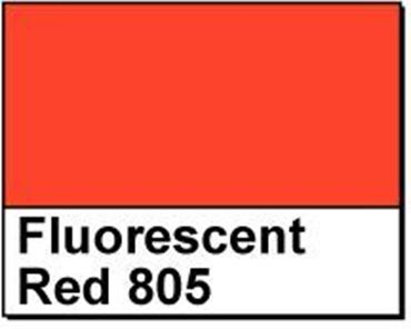 "Picture of 1"" Circle Thermal Transfer Labels, Fluorescent Red 805"