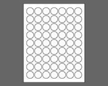 "1"" Circle Laser Labels, White"