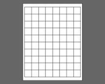 "Picture of 1"" X 1"" Laser Labels, White, 80/Sheet"