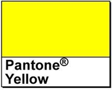"Picture of 1.5"" Circle Thermal Transfer Labels, Pantone® Yellow, 3"" Core"