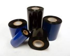 "Picture of 6"" X 689' Sato Ribbons, Black, Premium Wax, 12/Case"