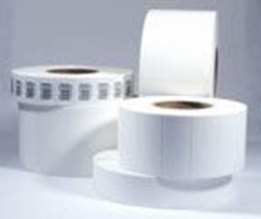 "Picture of 8.5"" X 6"" Thermal Transfer Labels, White, 3"" Core, Perfed"