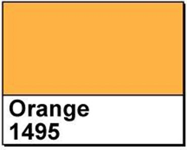 "Picture of 4"" X 2"" Thermal Transfer Labels, Orange 1495, 3"" Core, Perfed"